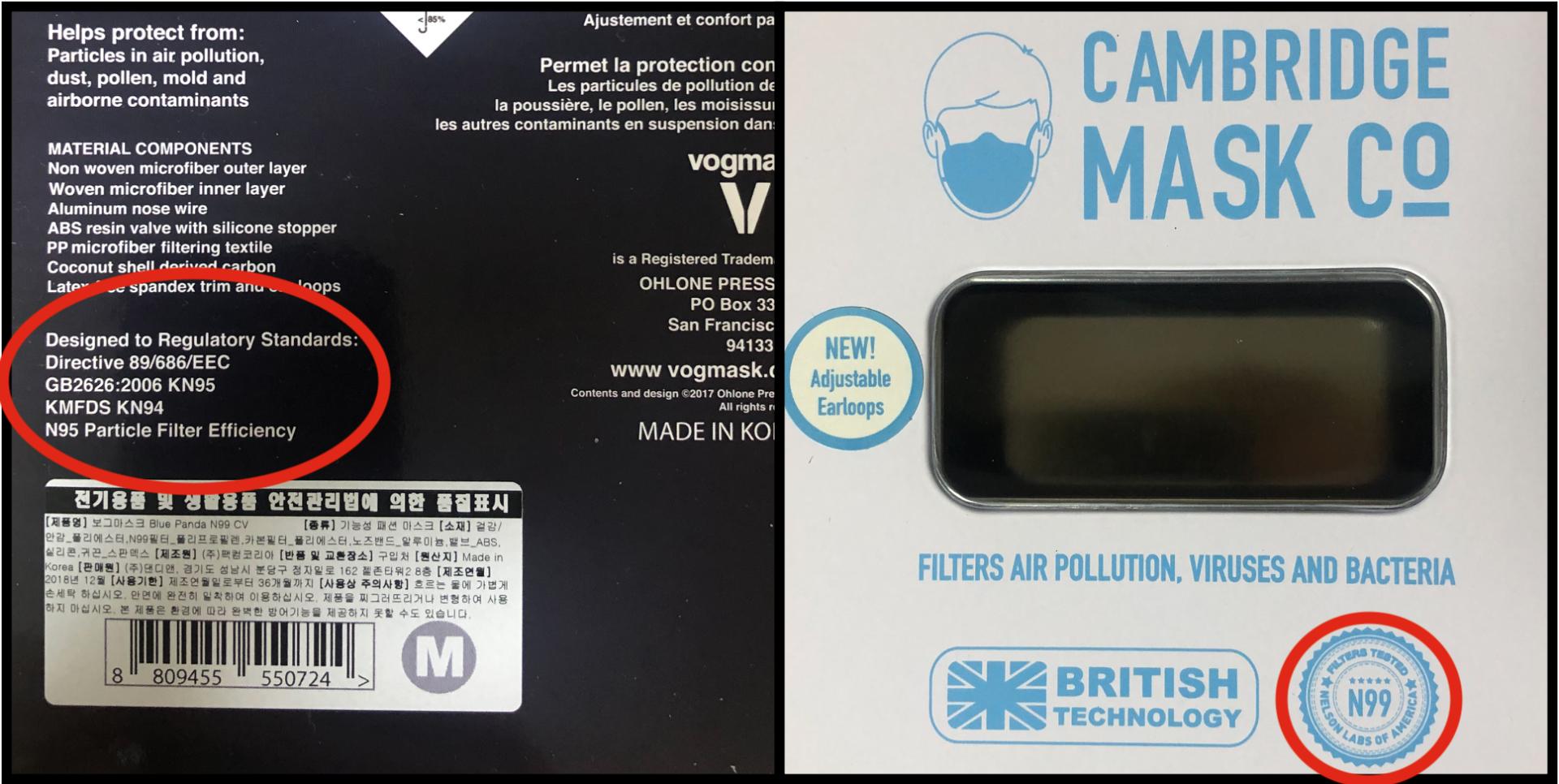 Cambridge Mask vs Vogmask